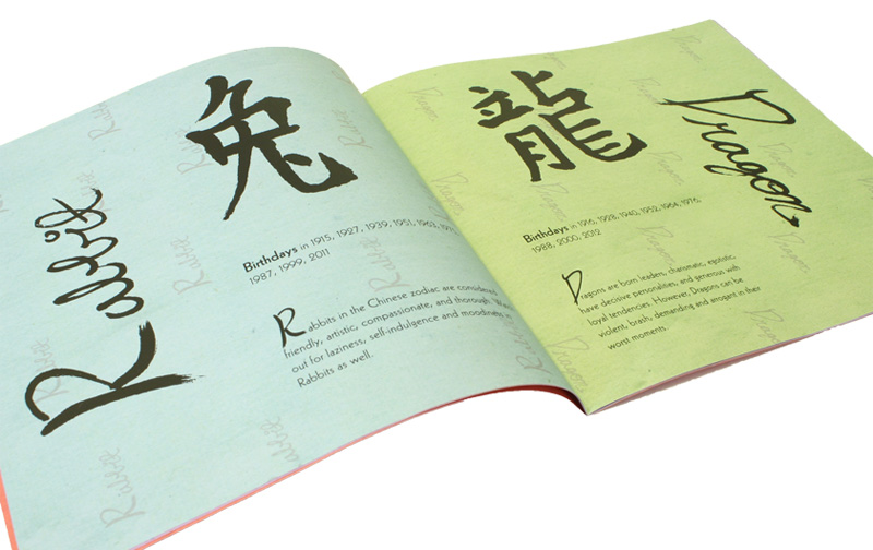 Chinese Zodiac Booklet